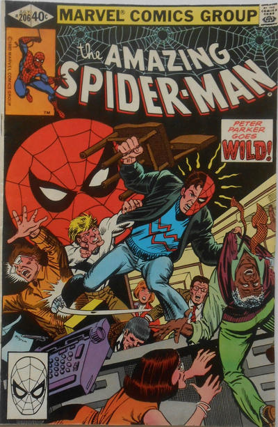 Cover for The Amazing Spider-Man (Marvel, 1963 series) #206 [Direct Edition]