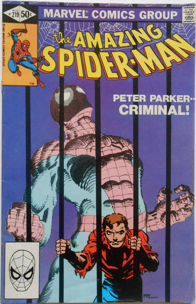 Cover for The Amazing Spider-Man (Marvel, 1963 series) #219 [Direct Edition]