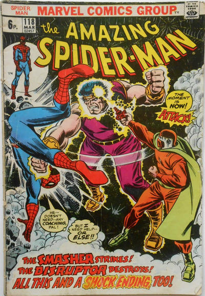 Cover for The Amazing Spider-Man (Marvel, 1963 series) #118 [British Price Variant]