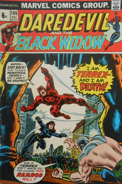 Cover for Daredevil (Marvel, 1964 series) #106 [British]