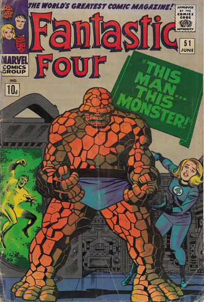 Cover for Fantastic Four (Marvel, 1961 series) #51 [Regular Edition]