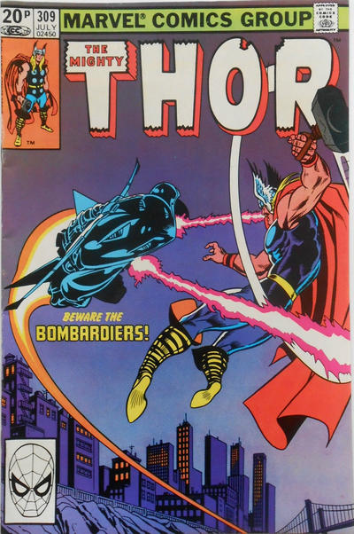 Cover for Thor (Marvel, 1966 series) #309 [Newsstand Edition]