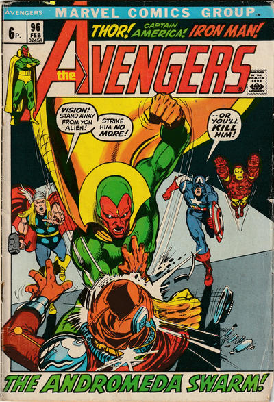 Cover for The Avengers (Marvel, 1963 series) #96 [Regular Edition]