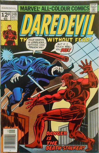 Cover for Daredevil (Marvel, 1964 series) #148 [30¢ Cover Price]