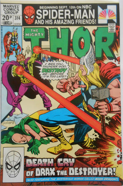 Cover for Thor (Marvel, 1966 series) #314 [Newsstand Edition]