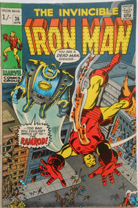 Cover for Iron Man (Marvel, 1968 series) #36 [Regular Edition]