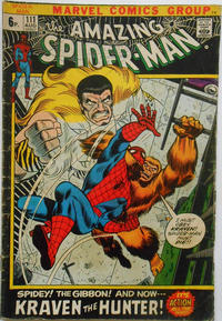 Cover Thumbnail for The Amazing Spider-Man (Marvel, 1963 series) #111 [British]
