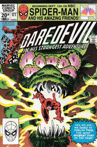 Cover for Daredevil (Marvel, 1964 series) #177 [Direct Edition]