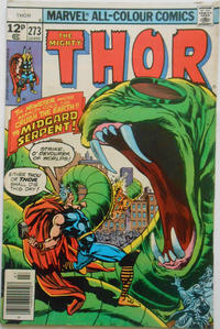 Cover Thumbnail for Thor (Marvel, 1966 series) #273 [British]