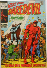 Cover Thumbnail for Daredevil (Marvel, 1964 series) #62 [British]