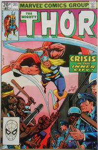 Cover Thumbnail for Thor (Marvel, 1966 series) #311 [British]
