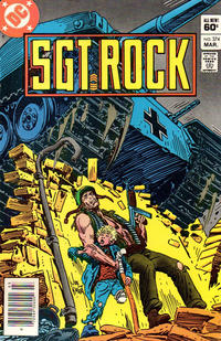 Cover Thumbnail for Sgt. Rock (DC, 1977 series) #374 [Newsstand]