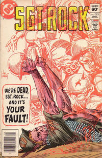 Cover Thumbnail for Sgt. Rock (DC, 1977 series) #375 [Newsstand]
