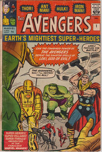 Cover Thumbnail for The Avengers (Marvel, 1963 series) #1 [British]