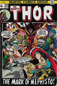 Cover Thumbnail for Thor (Marvel, 1966 series) #205 [British]