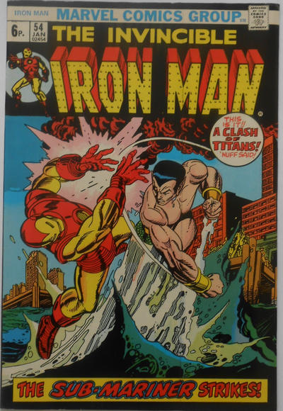 Cover for Iron Man (Marvel, 1968 series) #54 [Regular Edition]