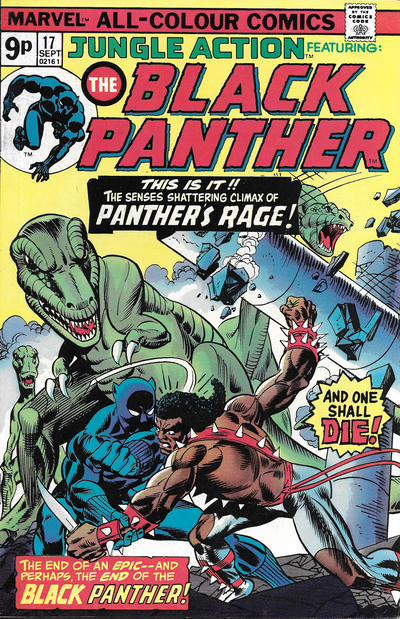 Cover for Jungle Action (Marvel, 1972 series) #17 [British]