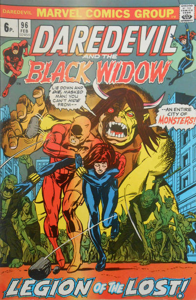 Cover for Daredevil (Marvel, 1964 series) #96 [Regular Edition]