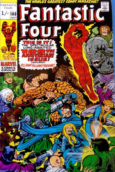 Cover for Fantastic Four (Marvel, 1961 series) #100 [Regular Edition]