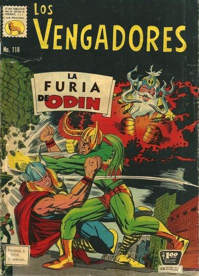 Cover for Los Vengadores (Editora de Periódicos La Prensa S.C.L., 1965 series) #118