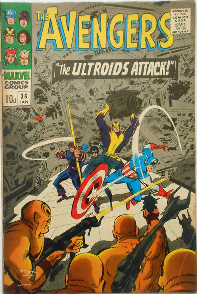 Cover for The Avengers (Marvel, 1963 series) #36 [Regular Edition]