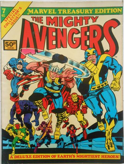Cover for Marvel Treasury Edition (Marvel, 1974 series) #7 [Regular Edition]