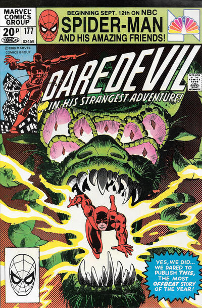 Cover for Daredevil (Marvel, 1964 series) #177 [Newsstand Edition]