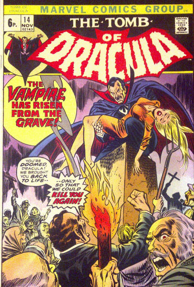 Cover for Tomb of Dracula (Marvel, 1972 series) #14 [British]