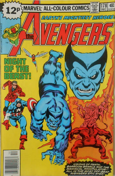 Cover for The Avengers (Marvel, 1963 series) #178 [Regular Edition]