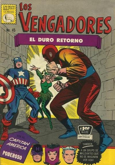 Cover for Los Vengadores (Editora de Periódicos La Prensa S.C.L., 1965 series) #45