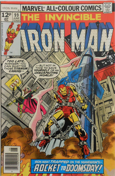 Cover for Iron Man (Marvel, 1968 series) #99 [35 cent cover price variant]