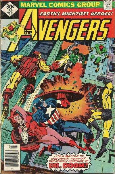 Cover for The Avengers (Marvel, 1963 series) #156 [Regular Edition]