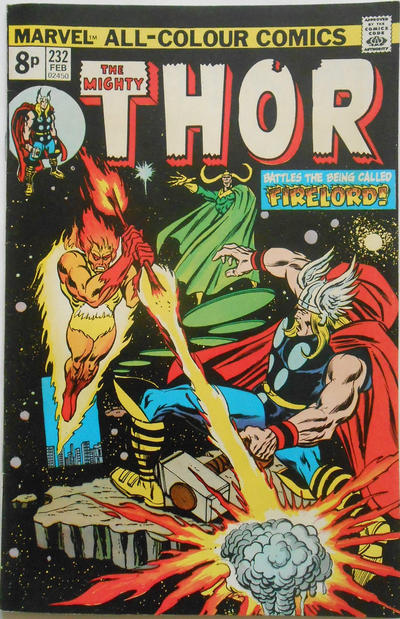 Cover for Thor (Marvel, 1966 series) #232 [British]