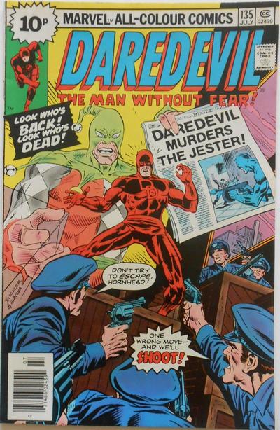 Cover for Daredevil (Marvel, 1964 series) #135 [25¢ Cover Price]