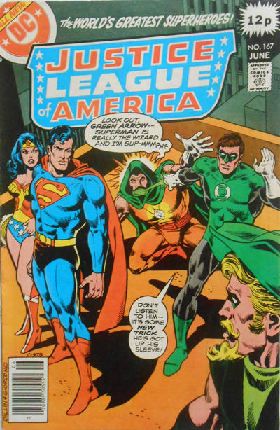 Cover for Justice League of America (DC, 1960 series) #167 [Regular Edition]
