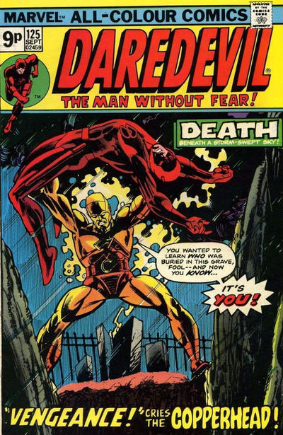Cover for Daredevil (Marvel, 1964 series) #125 [British]