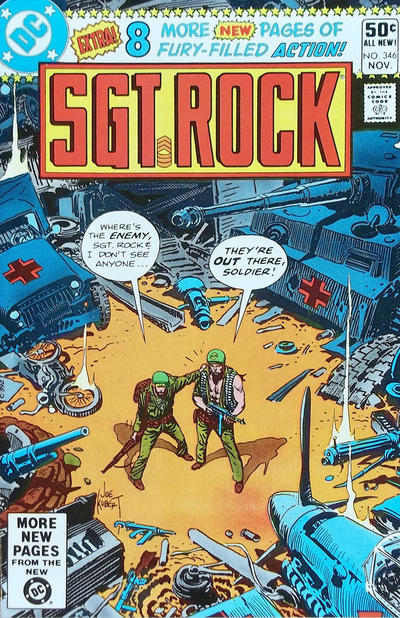 Cover for Sgt. Rock (DC, 1977 series) #346 [Direct Sales]
