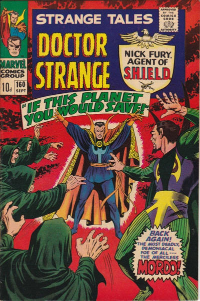Cover for Strange Tales (Marvel, 1951 series) #160 [Regular Edition]