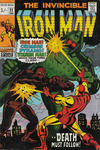 Cover Thumbnail for Iron Man (1968 series) #22 [British Price Variant]