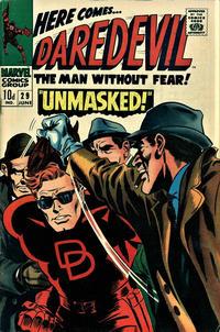 Cover Thumbnail for Daredevil (Marvel, 1964 series) #29 [British Price Variant]