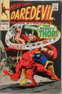 Cover Thumbnail for Daredevil (Marvel, 1964 series) #30 [British Price Variant]