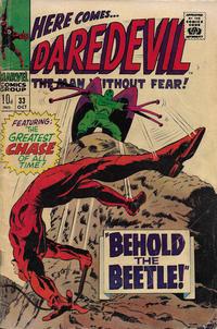 Cover Thumbnail for Daredevil (Marvel, 1964 series) #33 [British]