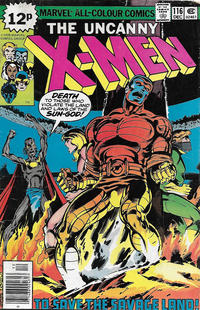 Cover Thumbnail for The X-Men (Marvel, 1963 series) #116 [British]