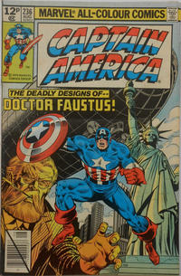 Cover for Captain America (Marvel, 1968 series) #236 [Direct Edition]