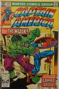 Cover Thumbnail for Captain America (Marvel, 1968 series) #257 [British]