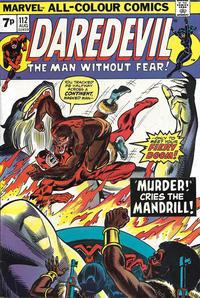 Cover for Daredevil (Marvel, 1964 series) #112 [Regular Edition]