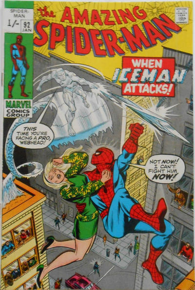 Cover for The Amazing Spider-Man (Marvel, 1963 series) #92 [Regular Edition]