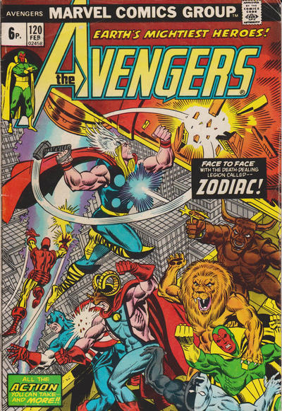 Cover for The Avengers (Marvel, 1963 series) #120 [Regular Edition]