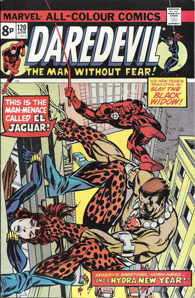 Cover for Daredevil (Marvel, 1964 series) #120 [British]