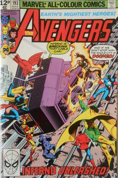 Cover for The Avengers (Marvel, 1963 series) #193 [British]